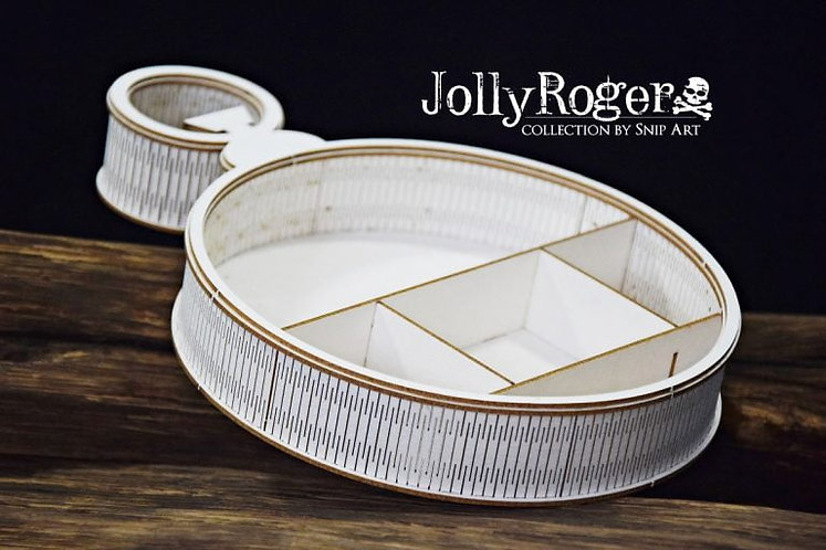 54763 Jolly Roger – Shadowbox – Pocket Watch Snip Art