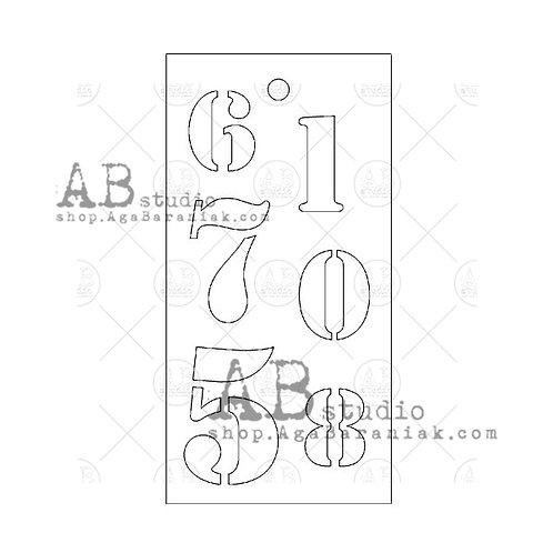 Stencil - numbers - AB Studio