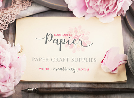 Welcome to our new Boutique of Papier scrapbook store website