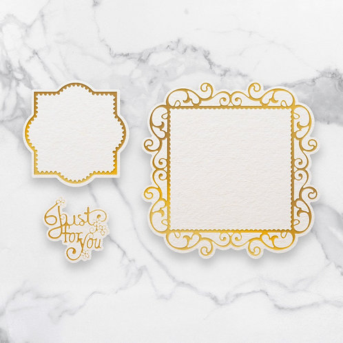 Cut, Foil and Emboss Decorative Nesting Die - Just For You Frames