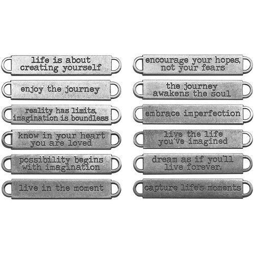 "Idea-Ology Metal Word Bands .375""X2.375"" 12/Pkg"