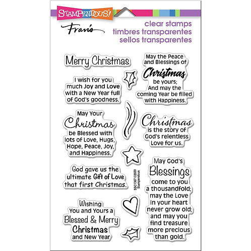 Stampendous Perfectly Clear Stamps - Blessed Christmas