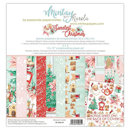 """The Sweetest Christmas Mintay 12"""" x 12"""" paper set"""