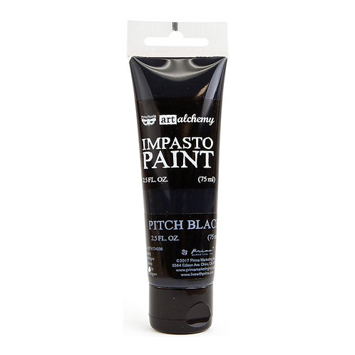 Finnabair Art Alchemy Impasto Paint 2.5 Fluid Ounces Black