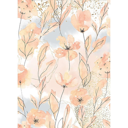 Stamperia Rice Paper Sheet A4 Aquerelle Flower, Love Story