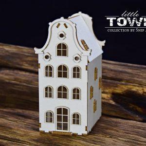 Little Town - Tenement House - 1 Snip Art
