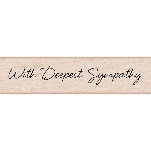 With Deepest Sympathy - HERO ARTS-Wood Mounted Rubber Stamps