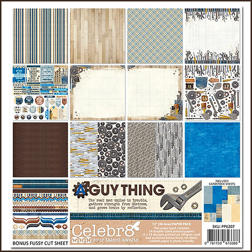 Guy Thing -  Celebr8 Paper Collection