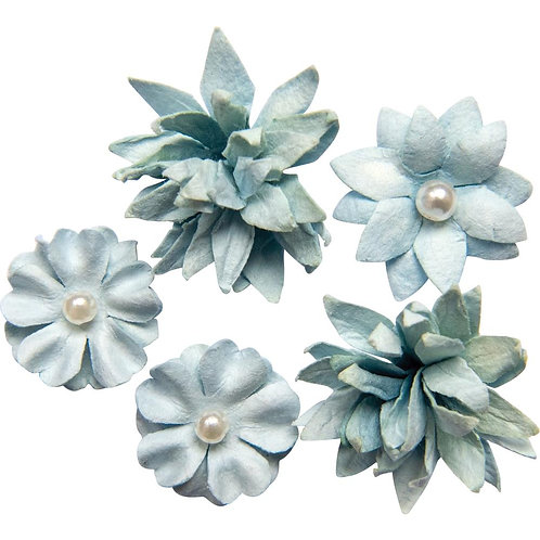 49 & Market Mini Flowers 5/pkg Sky