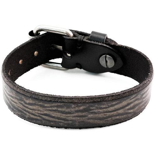Tim Holtz Assemblage Cuff Bracelet -Black W/Buckle Enclosure