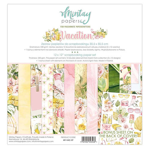 Vacation 07 - Mintay -– 12″ Collection pack includes bonus sheet