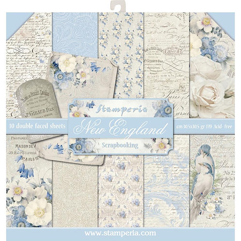 """Stamperia Double-Sided Paper Pad 12""""X12"""" 10/Pkg - Old England"""