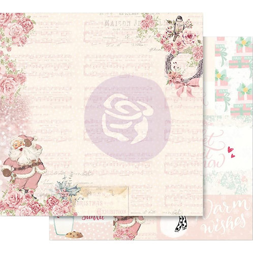 "Santa Baby Pink Foiled Double-Sided Cardstock 12""X12""- Santa, Baby!"
