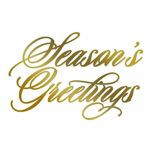 Hotfoil Stamp - AG - Season's Greetings