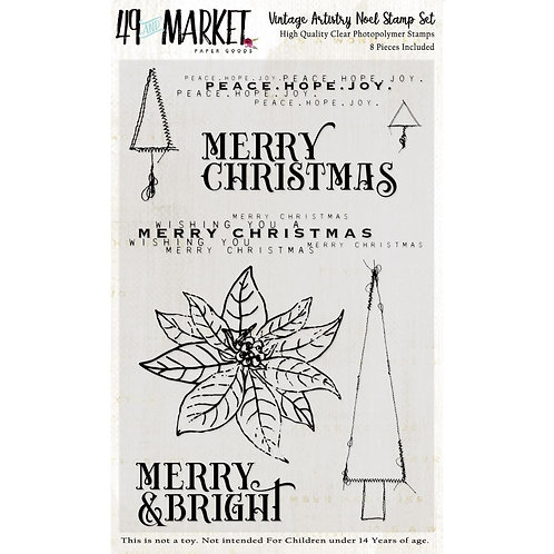 "49 And Market Clear Stamps 4""X6""- Vintage Artistry Noel"