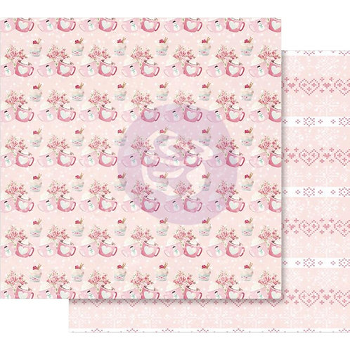 "Santa Baby Pink Foiled Double-Sided Cardstock 12""X12""-Warm & Cozy"