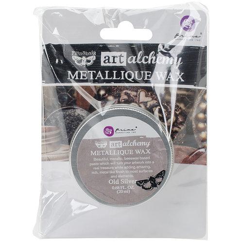 Finnabair Art Alchemy Metallique Wax .68 Fluid Ounce-Old Silver