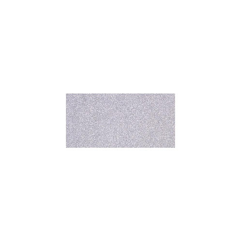 "American Crafts POW Glitter Paper 12""X12"" - Solid Silver"