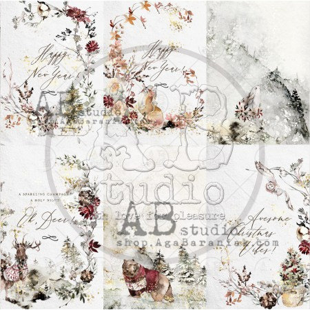 """Scrapbooking paper """"Breeze of the forest""""- sheet 2 - 12'x12'"""