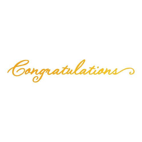 Hotfoil Stamp - SE - Congratulations (1pc)