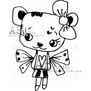 Rubber stamp ID-482 TandiArt bear