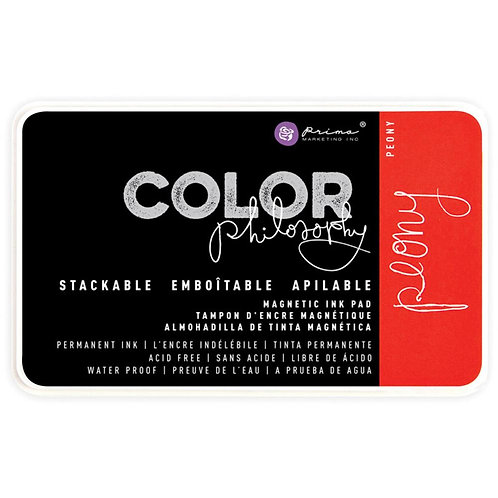 Prima Color Philosophy Permanent Ink Pad In Magnetic Case-Peony