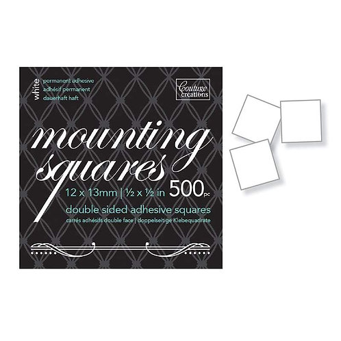 Adhesive - Mounting Squares - White Permanent (500)