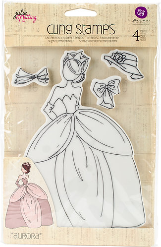 "Julie Nutting Mixed Media Cling Rubber Stamps-Aurora 5.75""X8"""
