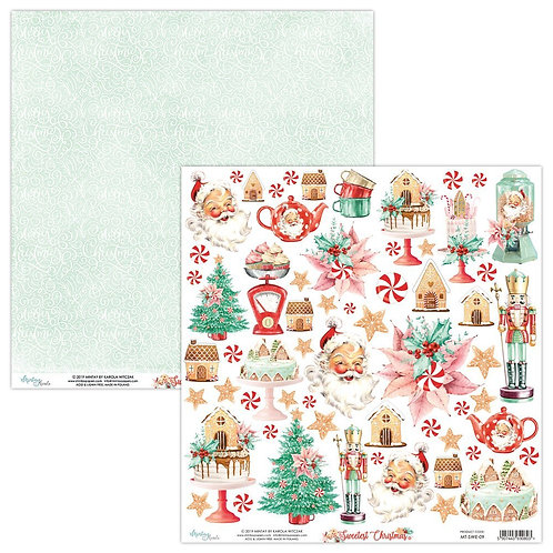 "The Sweetest Christmas Mintay 12"" x 12"" paper"