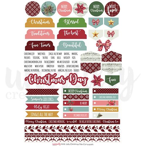 Holly Jolly ChristmasCut-a-part Sheet