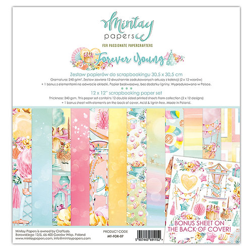 "Forever Young Mintay 12"" x 12"" paper set"