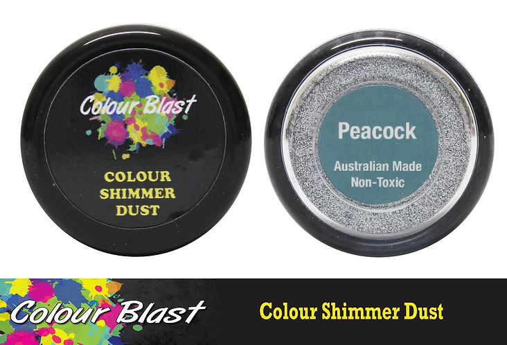 Colour Shimmer Dust - Peacock - COLOUR BLAST