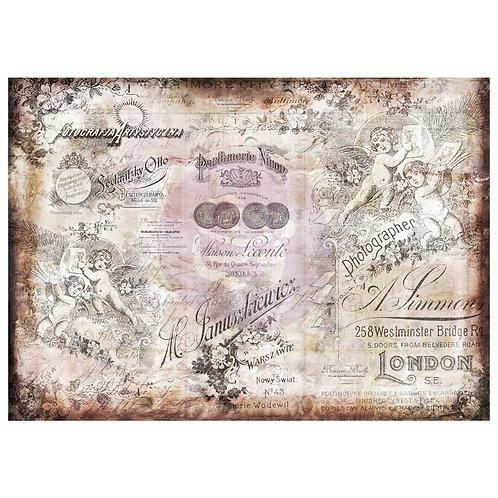 "Finnabair Mixed Media Tissue Paper 27.5""X19.7"" Romatica"