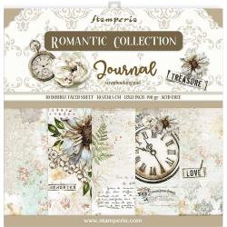 """Stamperia Double-Sided Paper Pad 12""""X12"""" 10/Pkg Romantic Journal"""