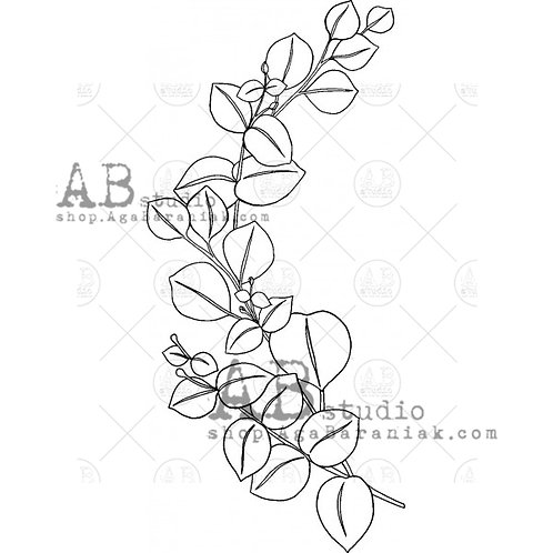 Rubber Stamp ID-306 Leaf AB Studio