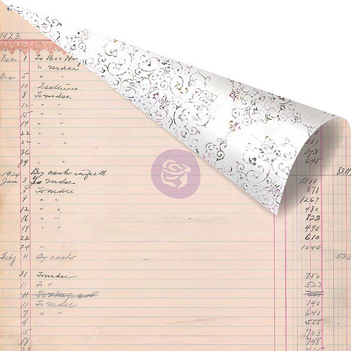 "Lavender Rose Gold Foiled Double-Sided Cardstock 12""X12""-My Last Note"