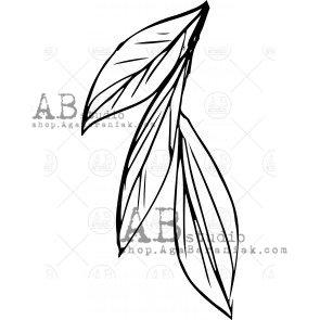 "Rubber stamp ID-489 ""leaf"" AB Studio"