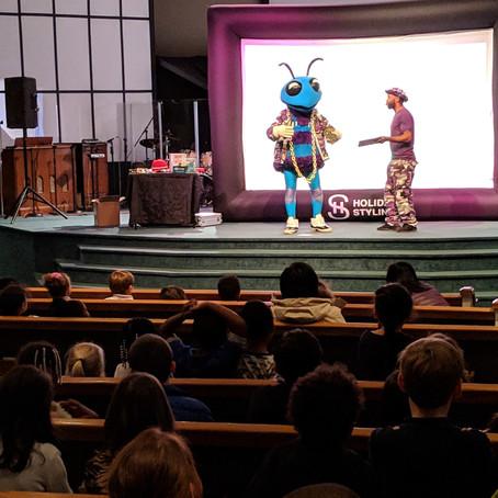 Hugo the Hornet Visits East Voyager Academy