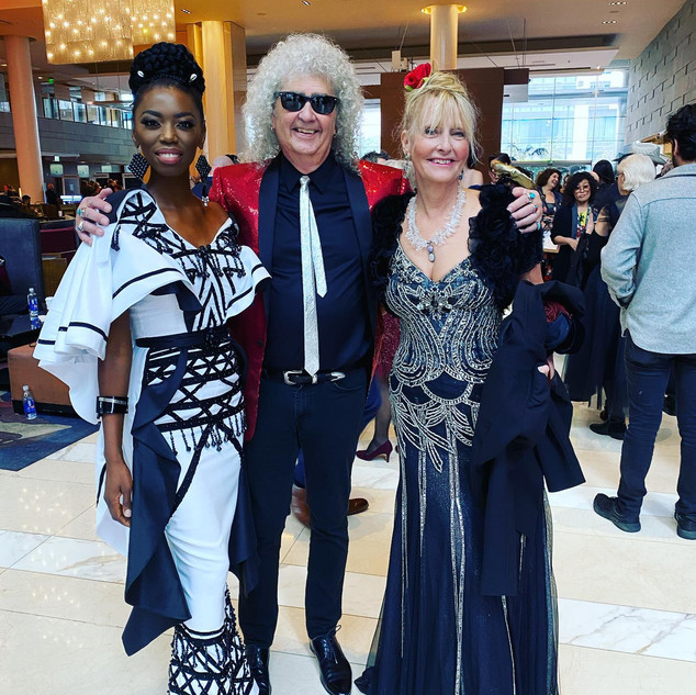 Once again at a pre- Grammy celebration in 2019 with another famous South African this time- the beautiful LIRA and then myself flanking T.M.