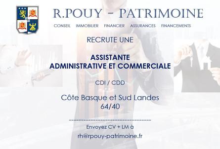 Offre Emploi - Assistante Administrative et Commerciale - Publication le 19.07.2021