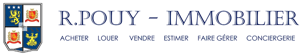 Logo - Agence R.POUY - IMMOBILIER - 02.0