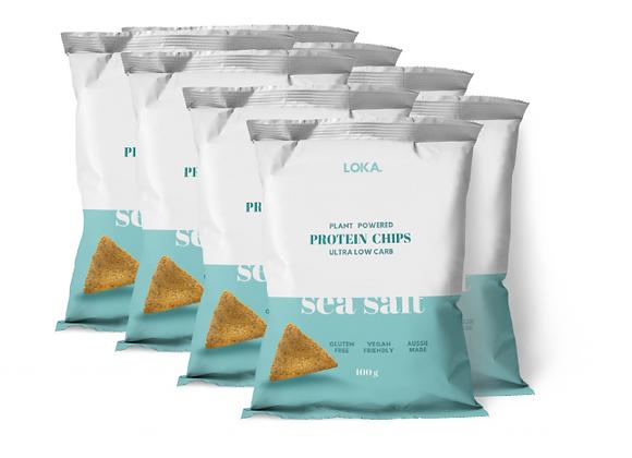 CARTON 8 x Sea Salt Protein Chips