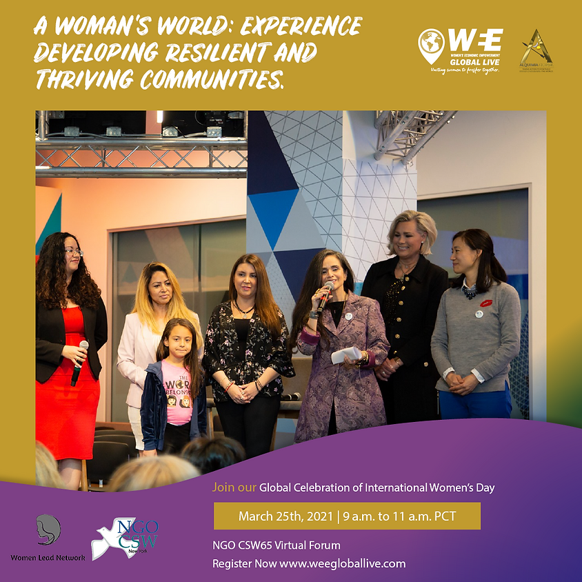 A Woman's World: Experience Developing Resilient and Thriving Communities.