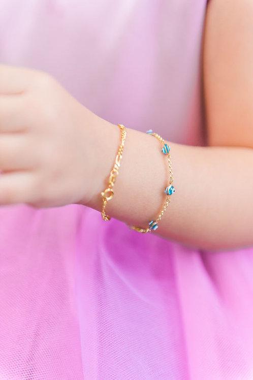 Kid's Gold Evil Eye Bracelet