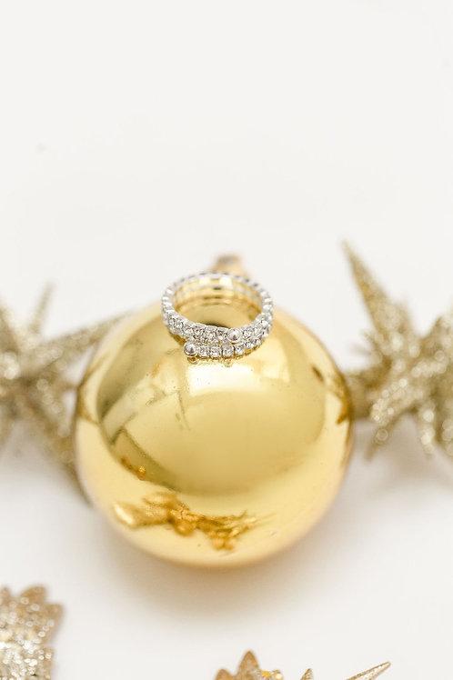 3-Row crystal Ring