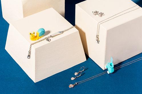 Heart Charm Silver Bracelet