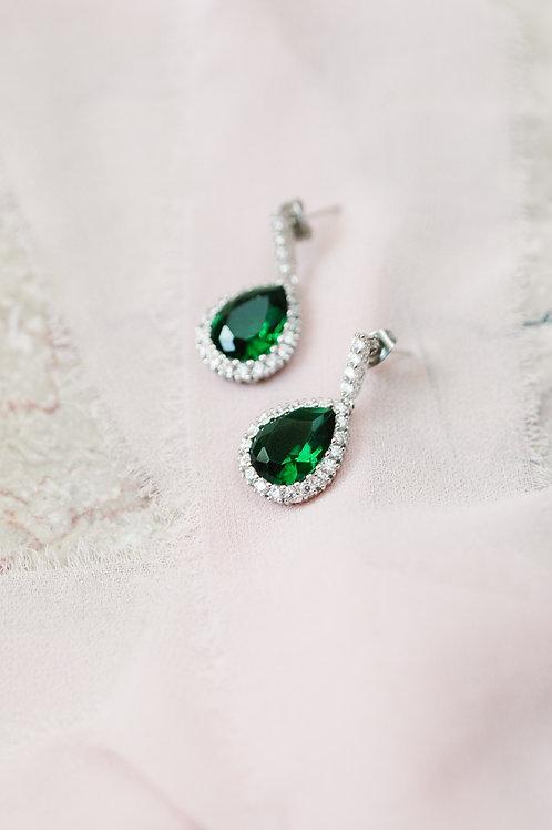 The Green Emerald Earrings