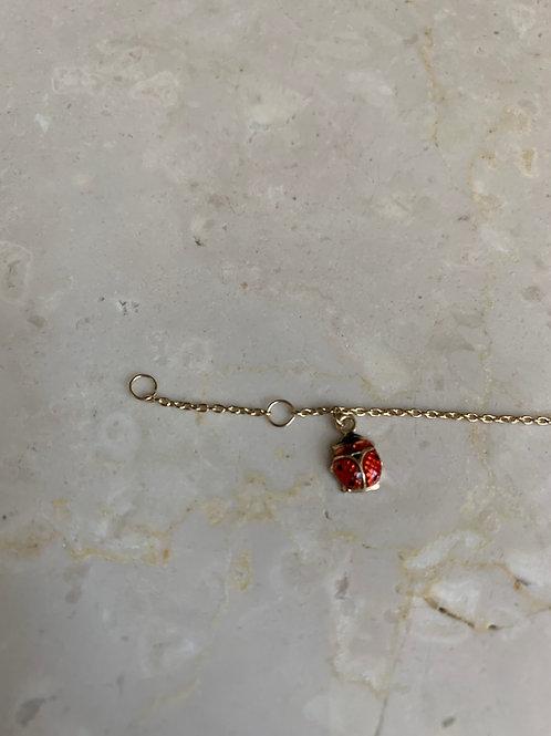 LadyBug Gold Bracelet