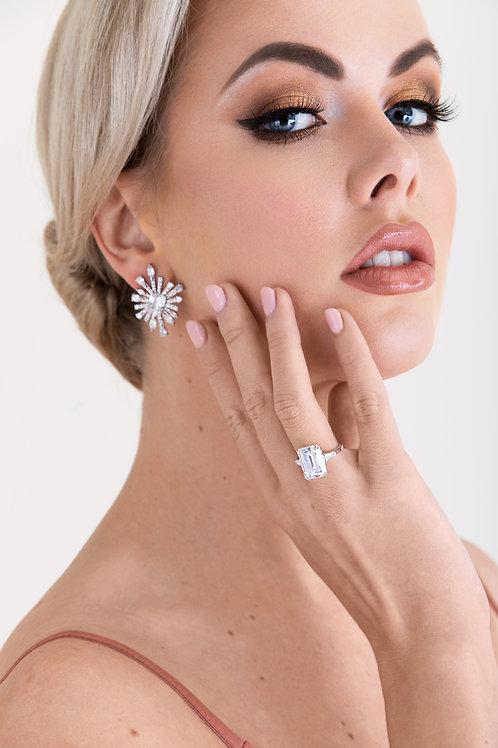 Silver Starlet Earrings
