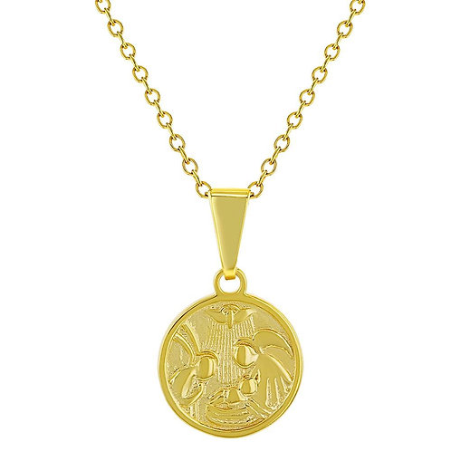 Guardian Angel Protector Medallion Necklace